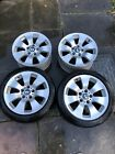 Genuine Bmw 17 Inch Alloy Wheels And 2 Good Continental Tyres