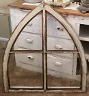 OHMY~ XLarge Antique Arch Top Window Gothic Cottage Chic ~ ARCHITECTURAL ~