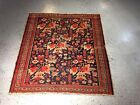 Antique Kurdish rug 3.5x3.9 fantastic Distressed carpet  ca.1920s Bohemian Look