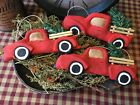 Primitive* Handcrafted* Little Red Truck* Ornies* Bowl Fillers* Christmas
