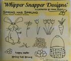 WHIPPER SNAPPER cling Rubber Stamp SPRING HAS SPRUNG Easter