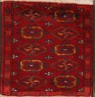 Great Price Traditional Red Balouch Afghan Oriental Rug 1x2 Carpet Hand Knotted