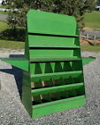 Antique Fold Up Country Store Green Steel Seed Display Cabinet Circa 1930