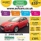 2015 RED FORD FOCUS 10 ECOBOOST 125 ZETEC PETROL 5DR HATCH CAR FINANCE FR 33PW