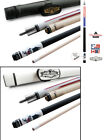 Champion GA2 Gator Pool Cue Stick 314 Taper 5 6x 18 White or Black Case
