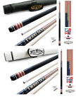 Champion GA1 Gator Pool Cue Stick 314 Taper 5 6x 18 White or Black Case