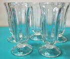 Vtg Libbey Glass Ice Cream Soda Fountain Sherbet Parfait Dessert Dish Set of 5