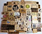Rubber Stamp Lot 76 Wood Animals Sayings Birds Mice Mail Brownies Vintage Rare