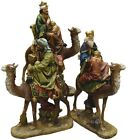Christmas Nativity Table Top Decor 18in Religious Three Kings Animals 3 Piece