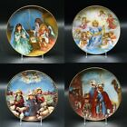 Set of 4 Reco Collectible Nativity Christmas Plates 1986 1987 1988 1989