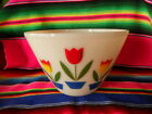 Fire King Tulips Mixing Bowl 9 1/2