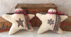 Primitive Ornies Snowmen Star Angel Ornies Bowl Fillers Make Do's Prim Ornies