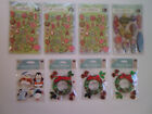 Lot of 8 Packages Jolees Boutique and KCompany Christmas Dimensional Stickers