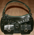 Auth OSPREY LONDON Handbag Purse Genuine Leather Green Vagabond Shoulder Bag