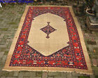 Antique Gallery Camel Malayer Persian Village Rug  c. 1900