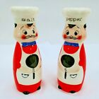 Salt and Pepper Shakers Set Tall Baker Chef Japan Made Vintage