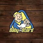 Vault Boy Baby on Board Fallout Decal Sticker
