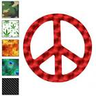 Peace Sign Decal Sticker Choose Pattern + Size 941