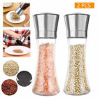 2X Premium Stainless Steel Salt and Pepper Grinder Set of 2 Brushed Mill 5 Grade