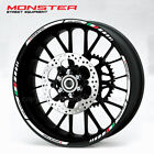 Ducati Monster 696 796 1200 wheel stickers decal rim stripes S2R M600 Laminated