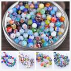 Wholesale Round Mixed Millefiori Lampwork Glass Loose Beads Craft 6 8 10 12 14mm