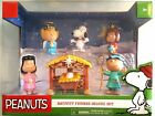 PEANUTS HOLIDAY COLLECTIBLE NATIVITY FIGURES DELUXE SET  BRAND NEW SEALED