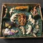 Vintage Nativity 12 Piece Set Italy