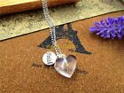 Mustard Seed Necklace Faith Heart Sterling Silver Chain Easter Mothers Day Gift