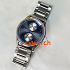 43mm parnis bracelet strap power reserve Sea gull automatic mens watch