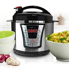 Stainless Steel Electric Pressure Cooker - 5 Quart Programmable Digital  Multi 8