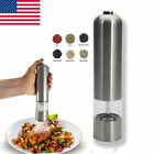 Automatic Electric Grinder Stainless Steel Salt Pepper Mill Adjustable Shaker US