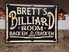 Personalized Billiards Room Pool Hall Gift Custom Carved Wood Plaque