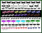 75 200 Sm Dragonfly Die Cut Embellishment Cutouts 3 types Scrapbook Fairy Cards