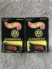 Hot Wheels 1997 Volkswagen Bus Limited Edition 18665 Black Flames Both Lot Of 2