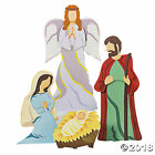 Outdoor Christmas Decoration 4pcs Nativity Scene With Angel Yard Decor Metal