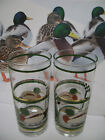 Set of 2 Libbey Drinking Glasses With   Mallard Duck Design and 24 KT Gold Trim