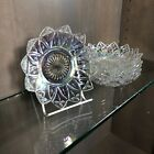 Federal Glass Bowls Set 6 Clear Iridescent Carnival Star Dish Glassware 1960 Vtg