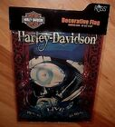 Harley Davidson Motor Cycles Garden Flag 12.5 x 18 Fat Boy Engine Ride To Live
