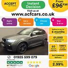 2016 GREY BMW X3 20 XDRIVE20D M SPORT DIESEL AUTO ESTATE CAR FINANCE FR 96 PW