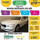 2015 WHITE BMW 730D 30 SE DIESEL AUTO 4DR SALOON CAR FINANCE FR 79 PW