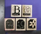 STAMPIN UP RUBBER STAMPS TERRIFIC TAGS BABY BIRTHDAY FRIEND THANKS
