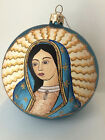Thomas Glenn Our Lady of Guadalupe glass Christmas ornament with stars