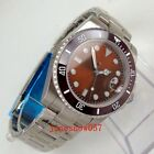 40mm Mens Watch Sterile Brick Red dial Luminous Automatic Watch Sapphire Glass