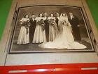 VINTAGE ANTIQUE WEDDING PARTY 8X10 PHOTO IN HOLDER FOLDER