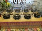 Vintage Retro MCM Colony Glass ~ Set of 8 Stemless Wine Glasses in Original Box
