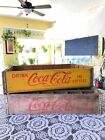 NO RESERVE - LOT 2 ITEMS - 2 COCA COLA CRATES - VINTAGE RETRO MID CENTURY
