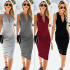 USA Fashion Women's Bandage Bodycon Short Sleeve Club Party Cocktail Mini Dress