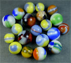 20 VINTAGE MARBLE KING PATCH & RIBBON MARBLES