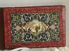 Antique  photo album Middle Eastern covered in painted miniature dancing figures