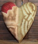 Primitive Quilt Heart Valentine Bowl Filler Cupboard Tuck Coffee Stained Tulip